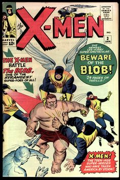 marvel silver age comic book covers | Front Cover: X-Men #3