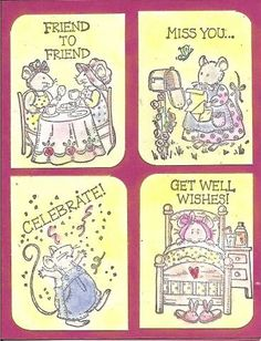 Index Mice Messages by galleryindex - Cards and Paper Crafts at Splitcoaststampers