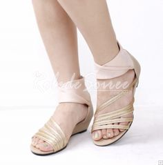 Sandales-Bohemian pente diamant de mode avec des sandales plates