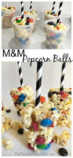 Easy M&M Popcorn Balls Recipe - KidFriendlyThingsToDo.com