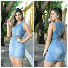 Dress Outfits, Casual Outfits, Dresses, Dress Skirt, Bodycon Dress, Denim Ideas, Bollywood Girls, Church Outfits, Voluptuous Women