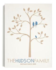 E-certificate for RedEnvelope Customizable 'Family Tree' Canvas