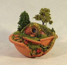 Dollhouse Miniature Hobbit House by PennyroyalFarm on Etsy, $83.00