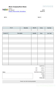 music store invoicing form retail invoice format invoice template word invoice sample