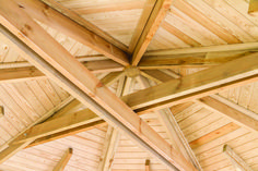 P&A Timber Buildings Octagon Outdoor Classroom - Inside Roof