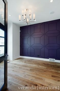 I love this wall treatment! I don't' know for what room it'd be great for but its nice