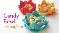 DIY crafts: CANDY BOWL with paper napkins - Innova Crafts