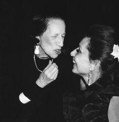 Diana Vreeland and Audrey, Pierre Hotel NY May 1982