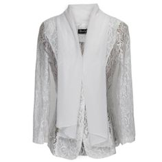 $32.99 nice 1veMoon Women's Long-sleeve Chiffon Lace Solid Color Loose Fitting Cardigan
