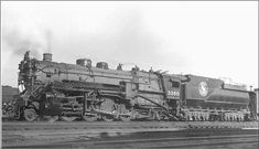 Great Northern #3350,Class 0-6, 2-8-2 was one of twenty two rebuilt from Class L-1s, 2-6-6-2's at GN Shops in 1925-26