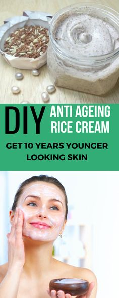 Anti aging skin products - DIY Anti Ageing Rice Face Cream To Get Young Glowing Clear Skin – Anti aging skin products Creme Anti Age, Anti Aging Cream, Anti Aging Skin Care, Diy Savon, Natural Hair Mask, Natural Skin, Natural Beauty, Skin Care Routine For 20s, Younger Looking Skin