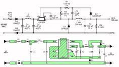 LNK304PN, 12 Vdc uit 230 Vac. De LNK304PN is een standaard-IC in heel veel wasmachines en wasdrogers. Het IC leidt uit de 230 V netspanning trafoloos een gelijkspanning van 12 V af.