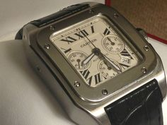 CARTIER SANTOS 100 XL 2740 AUTOMATIC CHRONOGRAPH STAINLESS STEEL