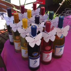 Baby shower favors- Bare Foot wine a Thank you note!