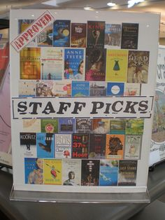 Staff Picks Book Display. Images only