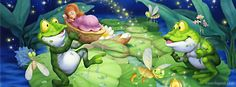 Fairytale Frogs Pond Facebook Cover CoverLayout.com