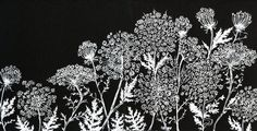 queen anne's lace Art Print - I like Alisa Burke's style. She has all kinds of items with her designs. (totes, mugs, rugs, pillows, clocks, etc)