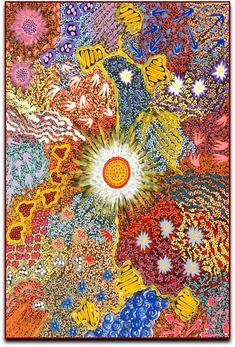 Amazing Australian Aboriginal Artwork by Khatija Possum / Women's Dreaming is the title of the painting. Aboriginal Art Symbols, Aboriginal Painting, Aboriginal Artists, Aesthetic Collage, Flower Aesthetic, Desert Art, Indigenous Art, Australian Artists, Learn To Paint