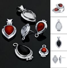 See the latest pear cabochon mountings in sterling silver and gold. Now you can easily design and set pear-shaped stones. Create a jewelry collection featuring this popular shape! Pear Shaped, Metal Working, Jewelry Collection, Gold Jewelry, How To Look Better, Cufflinks, Stones, Gems, Pendants