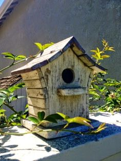 Curved blue roof birdhouse Caroline Gerardo