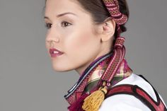 Øst Telemark bunad til jente - Almankås Norway, Vest, Costumes, Hair Styles, Beauty, Instagram, Fashion, Hair Plait Styles, Moda