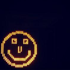 #roadtriprandomness #roadtrip #warrnambool #smile #happy #behappy #dontworrybehappy #smileyface #trafficsign #night #dark #light #lights by beakercomms