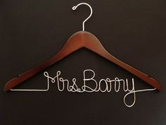 Friday DIY: Custom Wire Name Wedding Hangers | Wedding 101 Columbia, SC