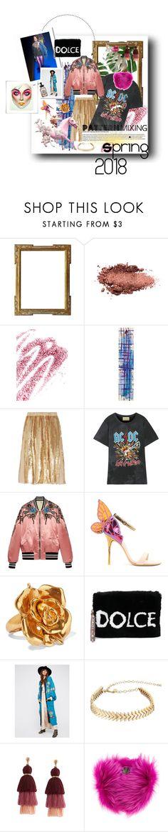 Gucci   --- Spring   ---   2018   ---   RTW by cassidylove on Polyvore featuring Gucci, TIBI, Free People, Sophia Webster, Dolce&Gabbana, Oscar de la Renta, Rebecca Minkoff, Mr & Mrs Italy, Obsessive Compulsive Cosmetics and NOVICA