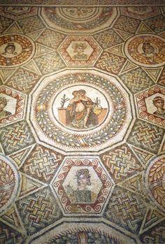 Beautiful mosaic, Villa Romana del Casale, Piazza Armerina, Enna province of Enna, Siciliy region Italy