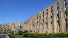 Amoreira aqueduct, Elvas (UNESCO World Heritage Site), Portugal