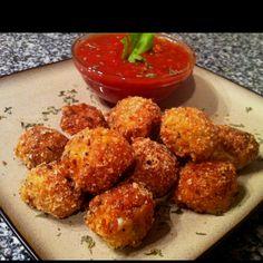 Low carb fried mozzarella balls -   https://facebook.com/pages/Peace-Love-and-Low-Carb/167748223291784  Www.peaceloveandlowcarb.com