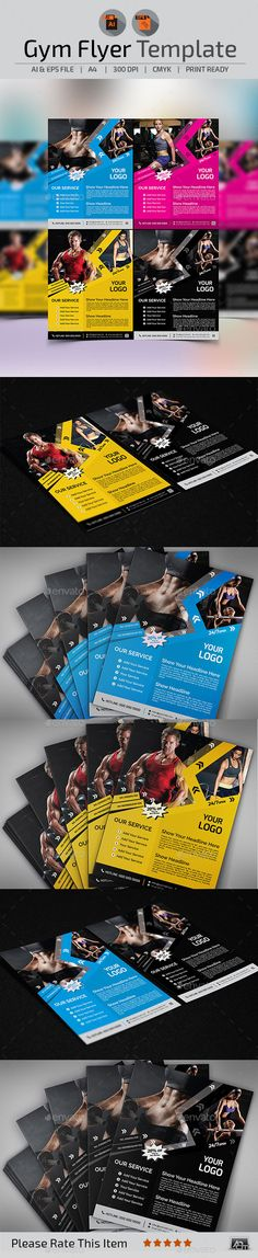 Fitness / Gym Flyer Template - Events Flyers