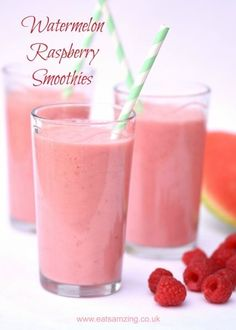 Refreshing Easy Watermelon Smoothie Recipes from Eats Amazing UK - great healthy. - Refreshing Easy Watermelon Smoothie Recipes from Eats Amazing UK – great healthy breakfast idea f - Smoothie King, Smoothie Bowl, Smoothie Fruit, Raspberry Smoothie, Smoothie Drinks, Raspberry Breakfast, Smoothies For Kids, Apple Smoothies, Healthy Smoothies