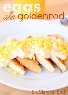 Eggs ala Goldenrod Recipe on MyRecipeMagic.com