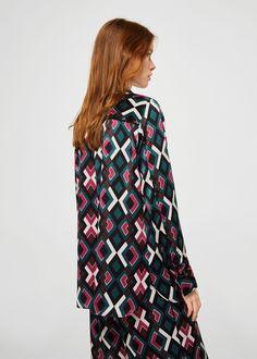 Buttoned printed shirt | MANGO