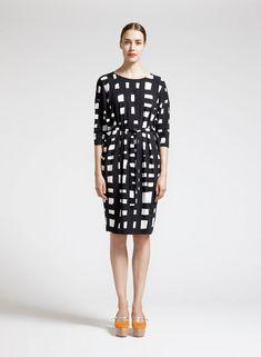 Marimekko sort-hvid kjole