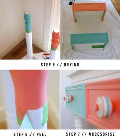 Dipped Furniture Legs DIY