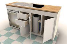 vw campervan kitchen pod design