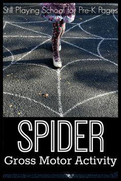 Spider Web Gross Motor Activity. A fun way to develop gross motor skills in preschool and kindergarten!