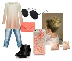 """""""10"""" by eva-rose15 ❤ liked on Polyvore featuring Sans Souci, Joie, orange and ombre"""