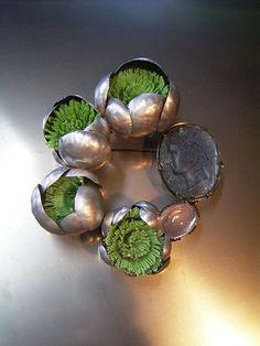 SHINJI NAKABA brooch, aluminum, plastic, 2007