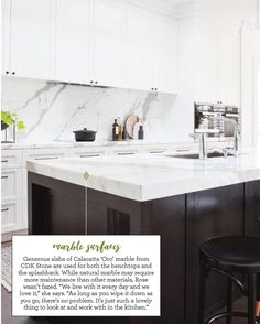 """161 Likes, 7 Comments - CDK Stone (@cdkstone) on Instagram: """"Love this Calacatta Oro kitchen by @biasoldesign and featured in  @homebeautiful March issue.…"""""""