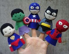 Superheroes finger puppet