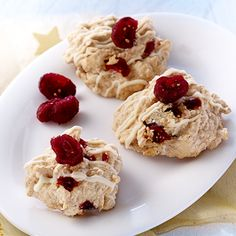Cranberrie macaroons More than 60 minutes uncomplicated - Seafood Recipes Krispie Treats, Rice Krispies, Macaroons, Seafood Recipes, Breakfast Recipes, Oatmeal, Cookies, Desserts, Brunch Recipes