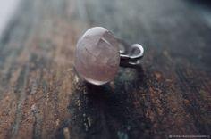 Купить Серебряное кольцо с кварцем «Розовое Облако» в интернет магазине на Ярмарке Мастеров