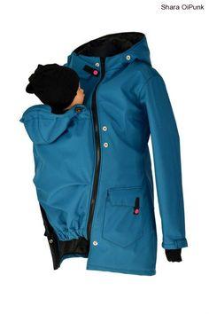 Soft.nosící kabát-jaro/podzim-petrolej Textiles, Rain Jacket, Windbreaker, Raincoat, Punk, Jackets, Outfits, Fashion, Tejidos