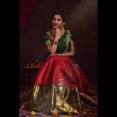 Half Saree Lehenga, Lehenga Saree Design, Lehnga Dress, Lehenga Designs, Saree Blouse Designs, Banarasi Lehenga, Blue Lehenga, Kids Lehenga, Lehenga Style