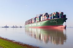 Today, CSCL Jupiter stranded on the Western Scheldt River on her way from Antwerp to the North Sea. Multraship, in collaboration with KST are trying to refloat the container vessel.