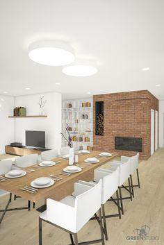 Interiér nízkoenergetického domu v Kittsee - jedáleň