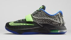 """Nike Zoom KD VII """"Electric Eel"""" drops this weekend for $150."""
